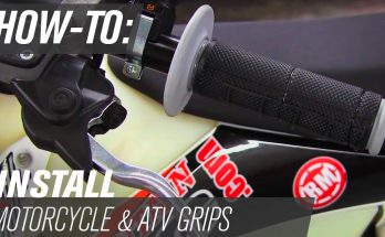 how to install bike grips