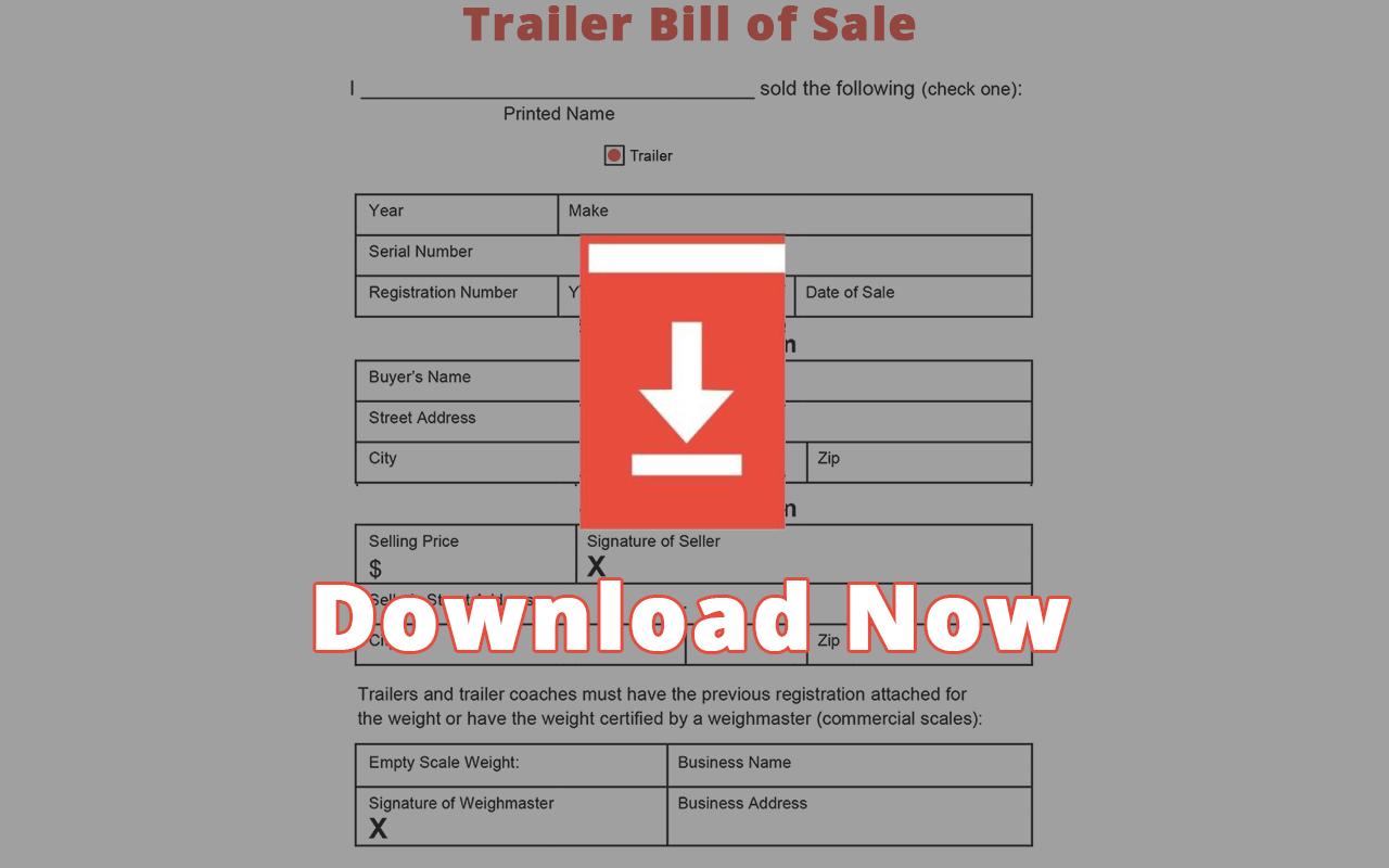 Free Texas Trailer Bill Of Sale Template Pdf Docx Off Road Savvy Bill of sale trailer texas